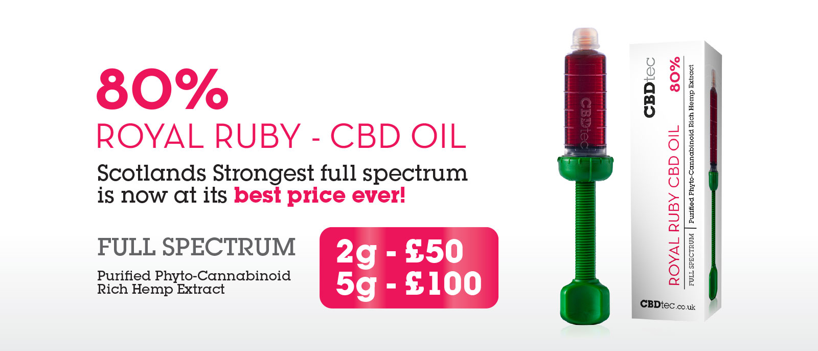 80% royal ruby cbd oil special offer